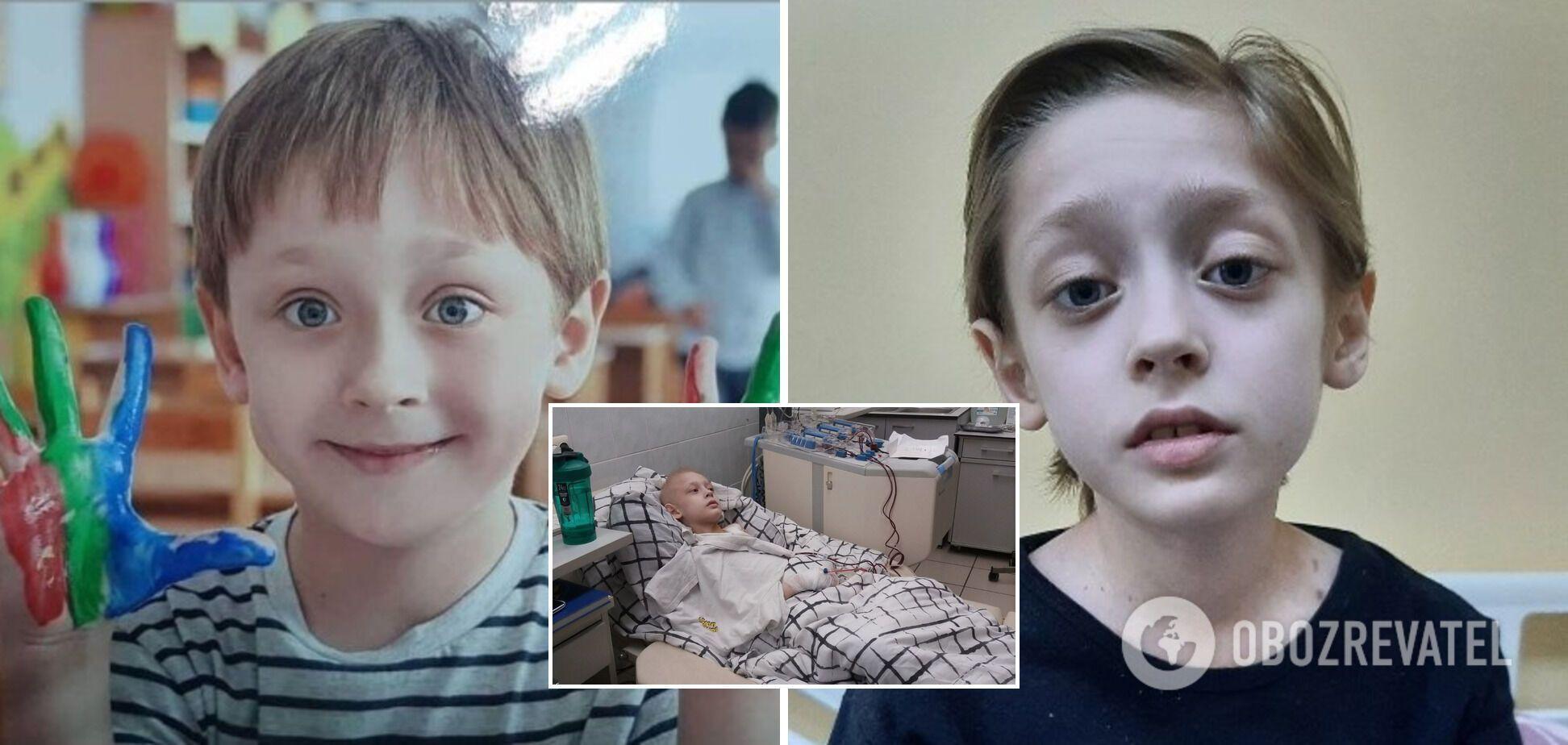 'Не могу потерять этого ребенка': 9-летний Егор из Киева борется с онкозаболеванием