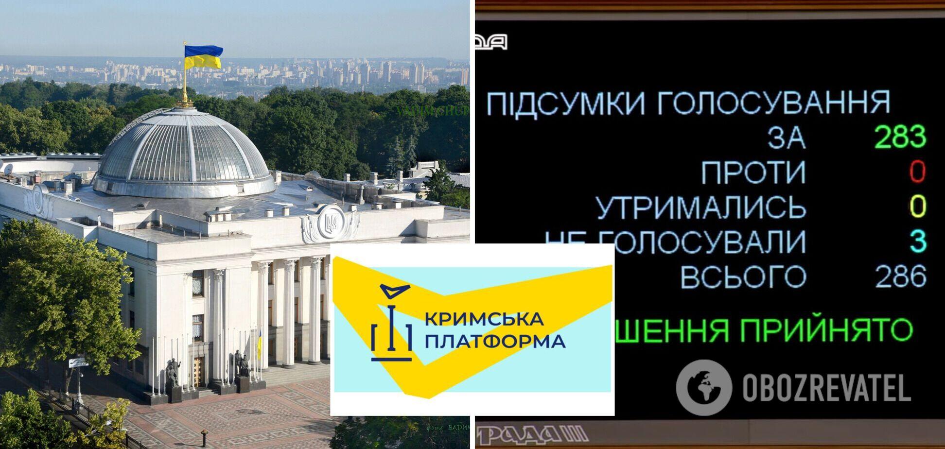 У Раді підтримали звернення до світу через 'Кримську платформу': що містить документ