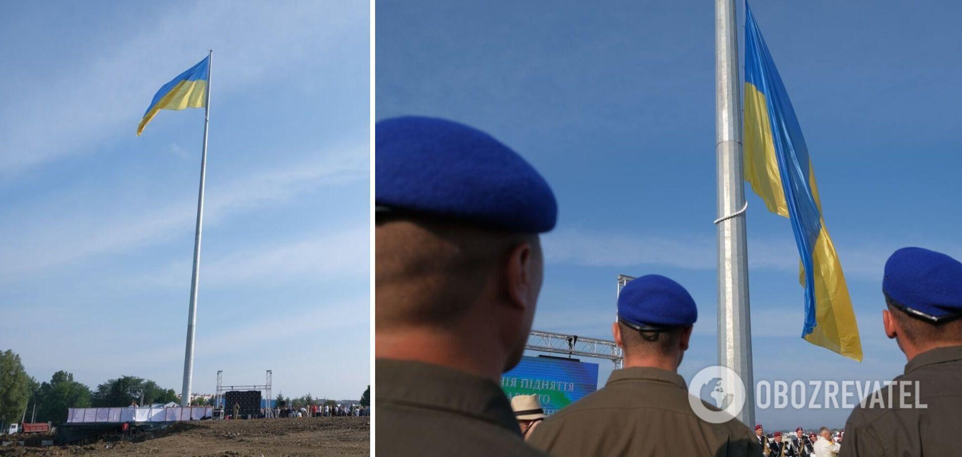 У Чернівцях державний прапор піднято на найвищому в області 50-метровому флагштоку