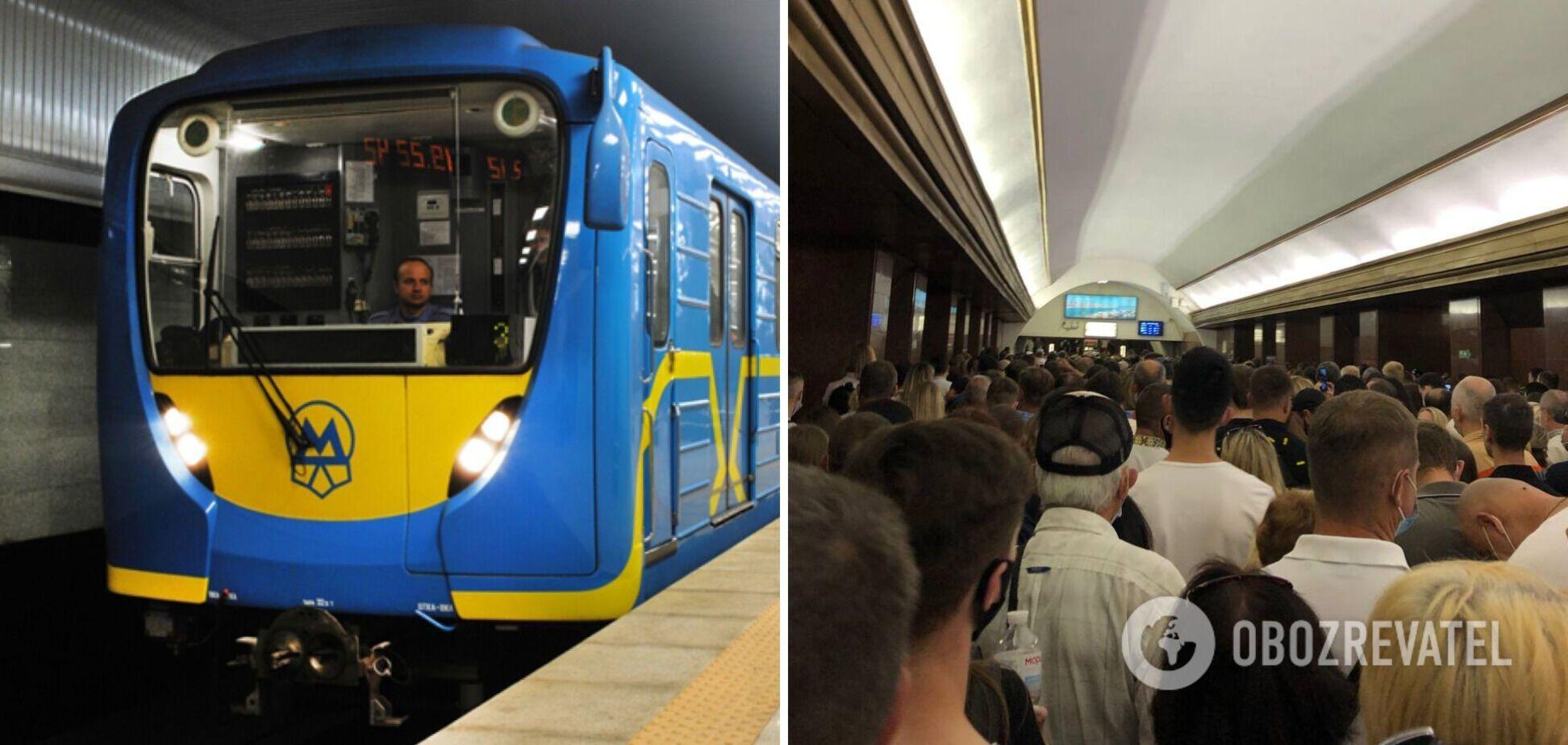 В Киеве возникла давка в метро: люди торопились попасть на военный парад. Фото и видео