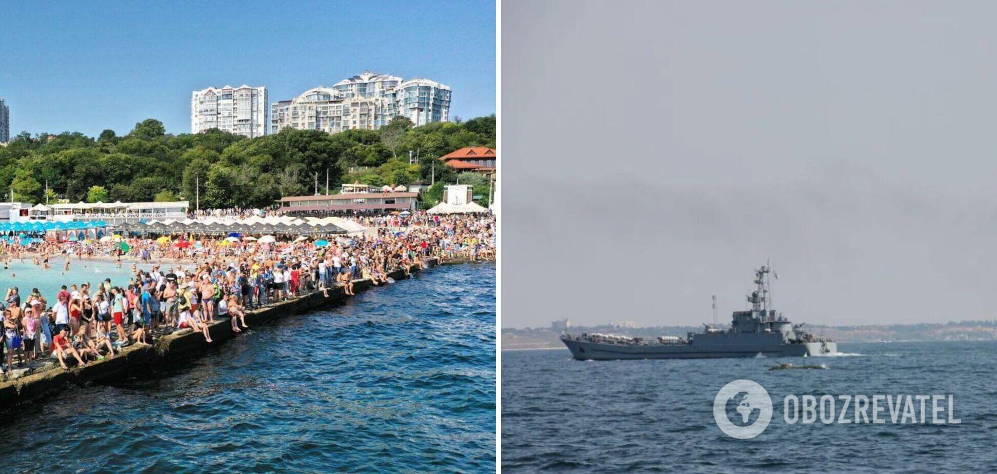 В Одессе состоялся морской парад и Марш защитников Украины. Фото и видео