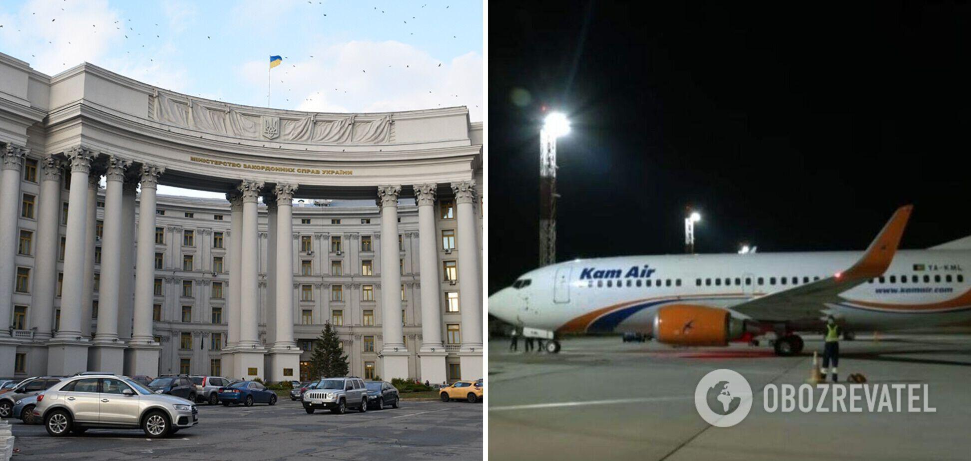 В МИД опровергли информацию о захвате украинского самолета в Кабуле. Все подробности