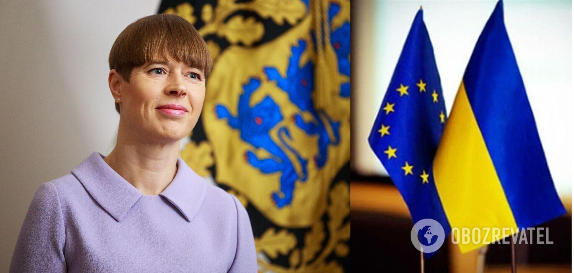 Президент Эстонии о перспективах членства Украины в ЕС: понадобится с 20 лет работы