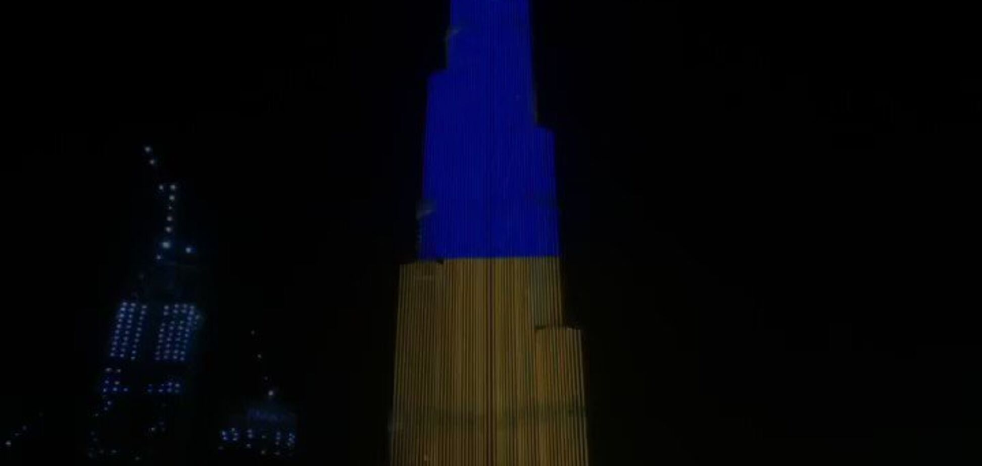 Бурдж-Халифа и Ниагарский водопад подсветили в цветах украинского флага