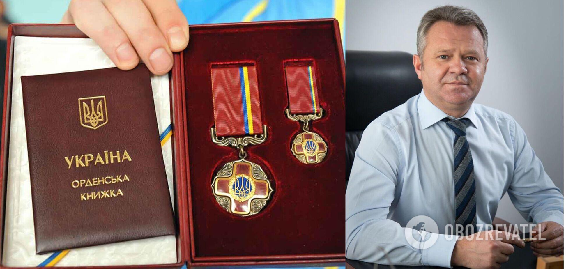 Анатолий Федорук получил орден