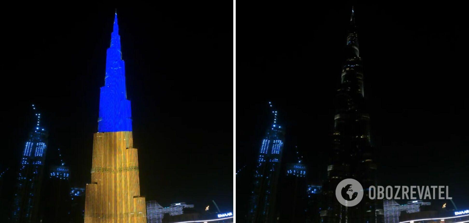Бурдж-Халіфа підсвітили на День Незалежності України