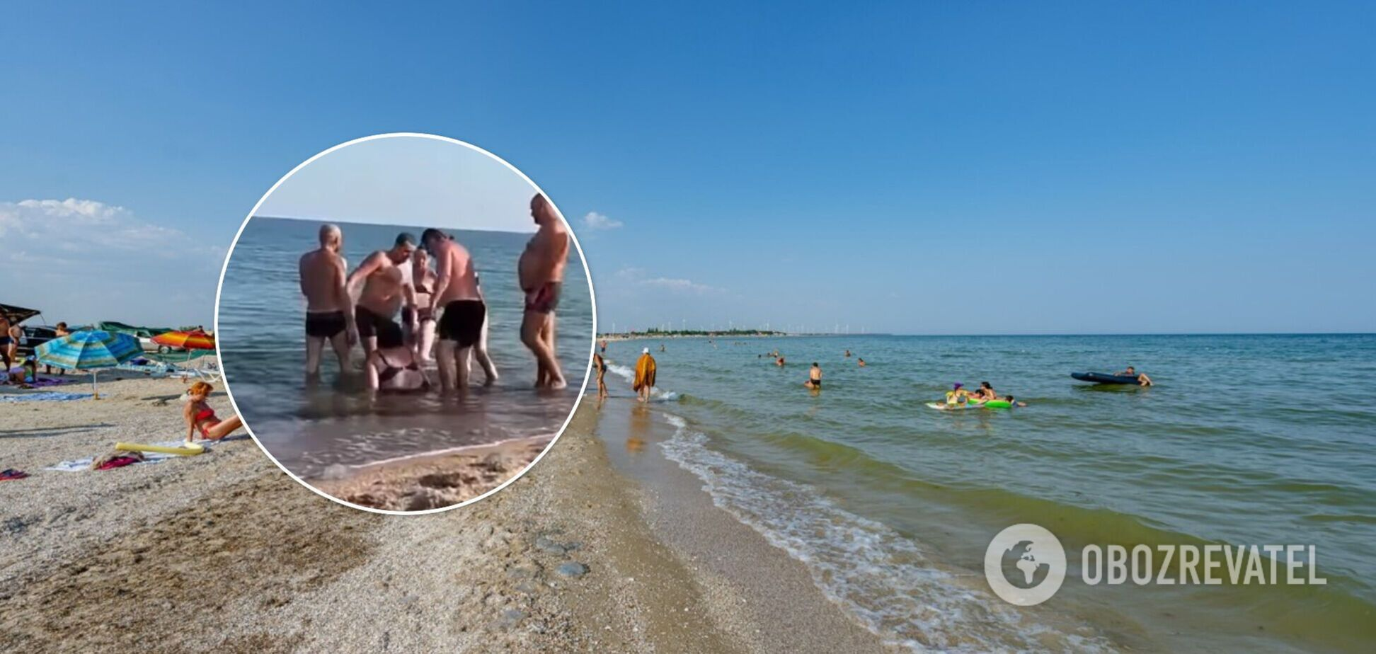 У Бердянську туристи побилися через медуз