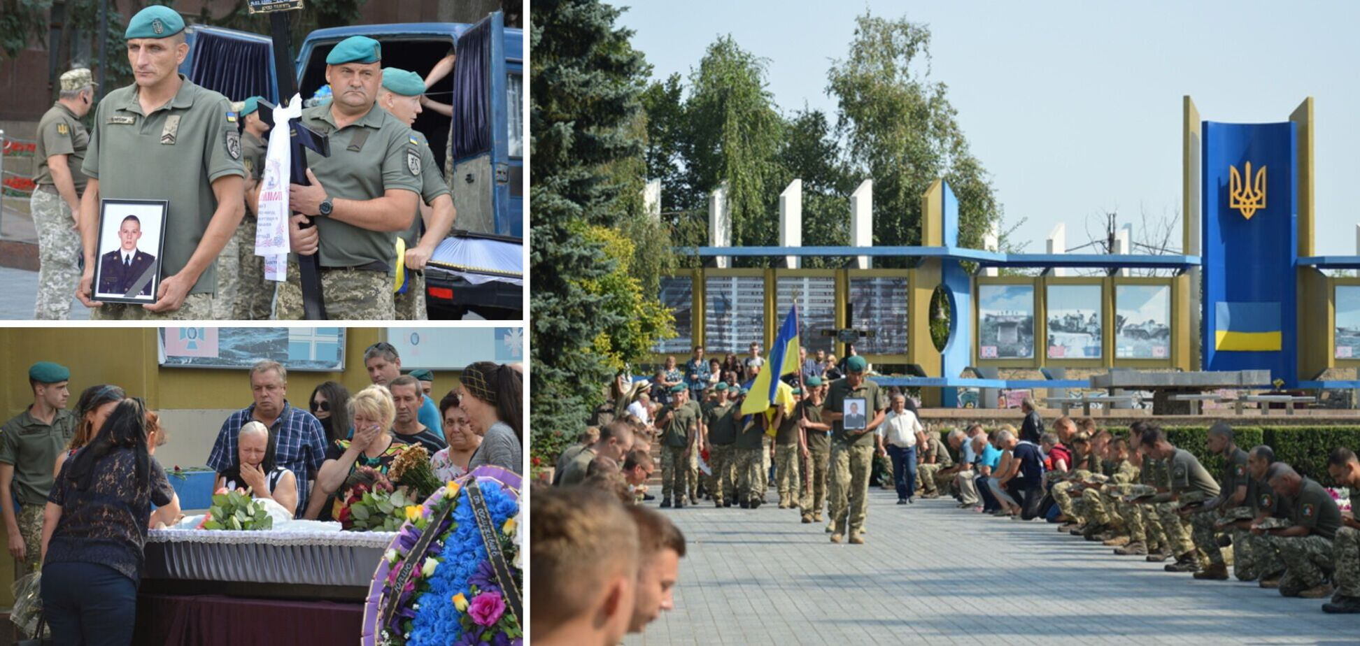 В Николаеве на коленях попрощались с воином, погибшим на Донбассе. Фото и видео