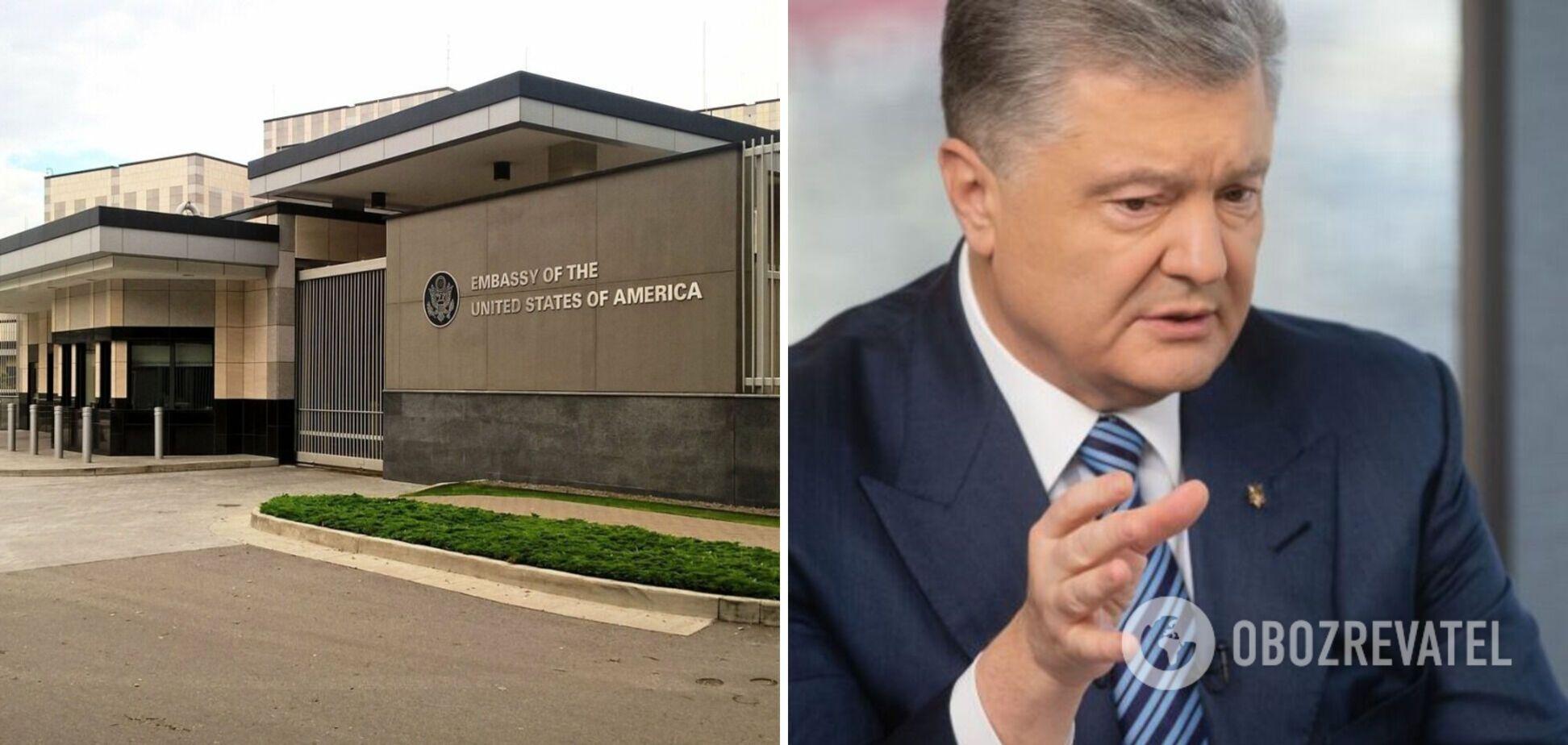 Посольство США – про напад на Порошенка: такому немає місця в демократичному суспільстві