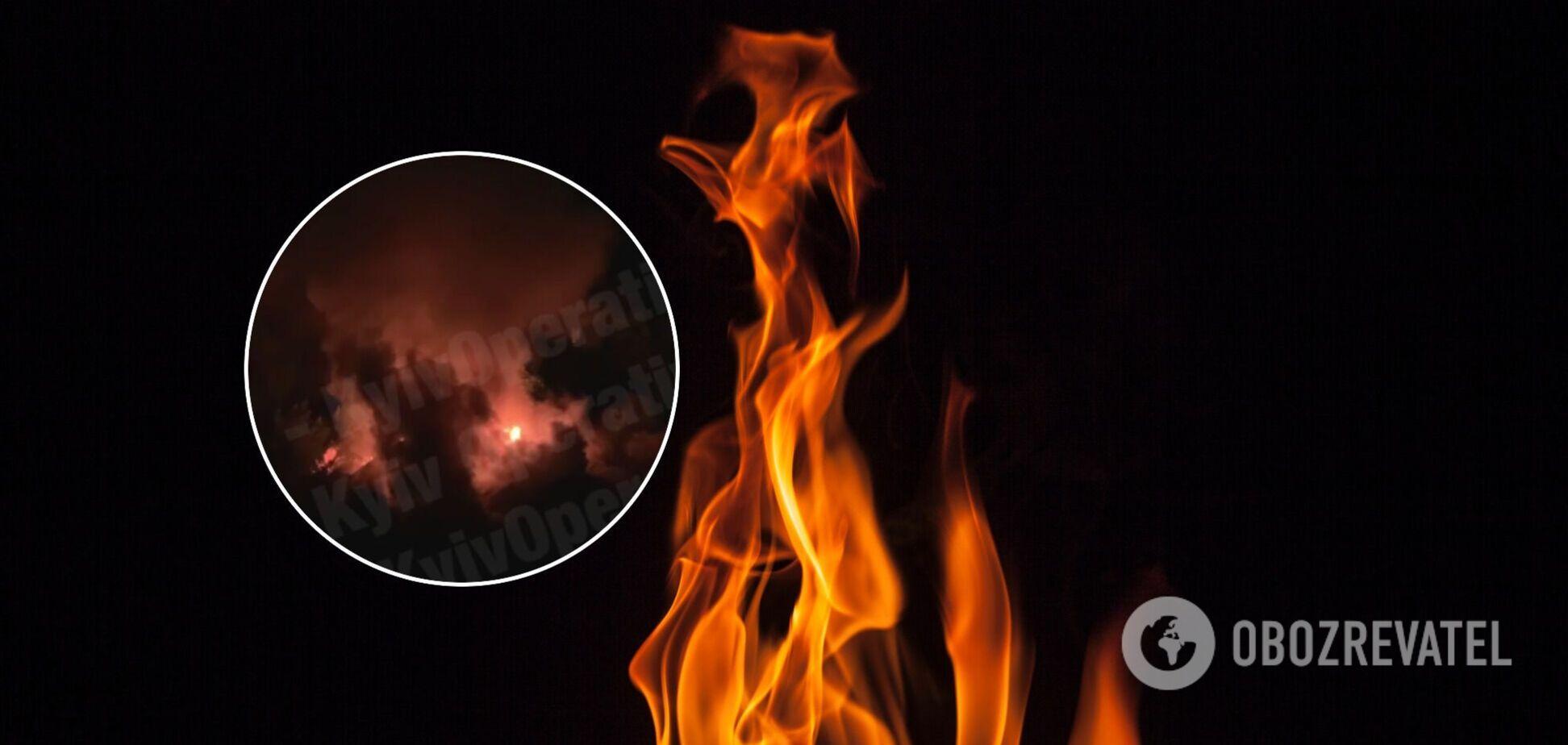 Пожар в столице Украины