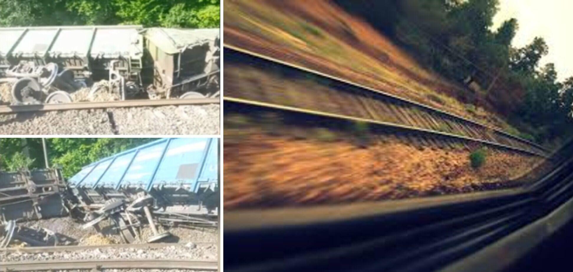 На Львовщине сошли с рельсов и перевернулись 18 вагонов грузового поезда: возникли задержки в движении
