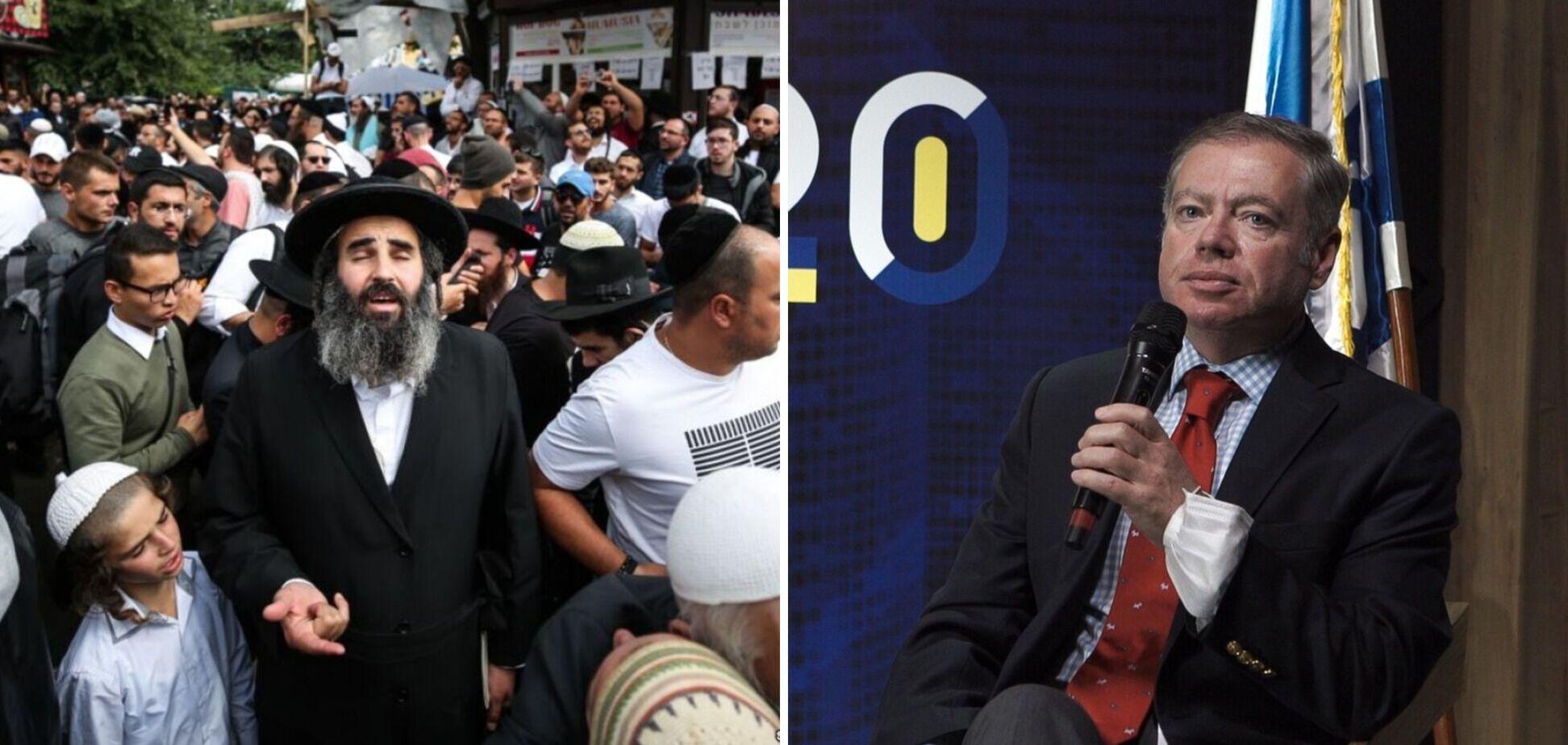 Посол Корнійчук звернувся до хасидської громади про необхідність дотримання українського законодавства при паломництві до Умані