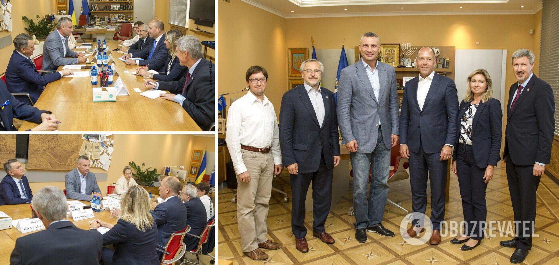 Кличко зустрівся з очільниками Світового Конгресу Українців