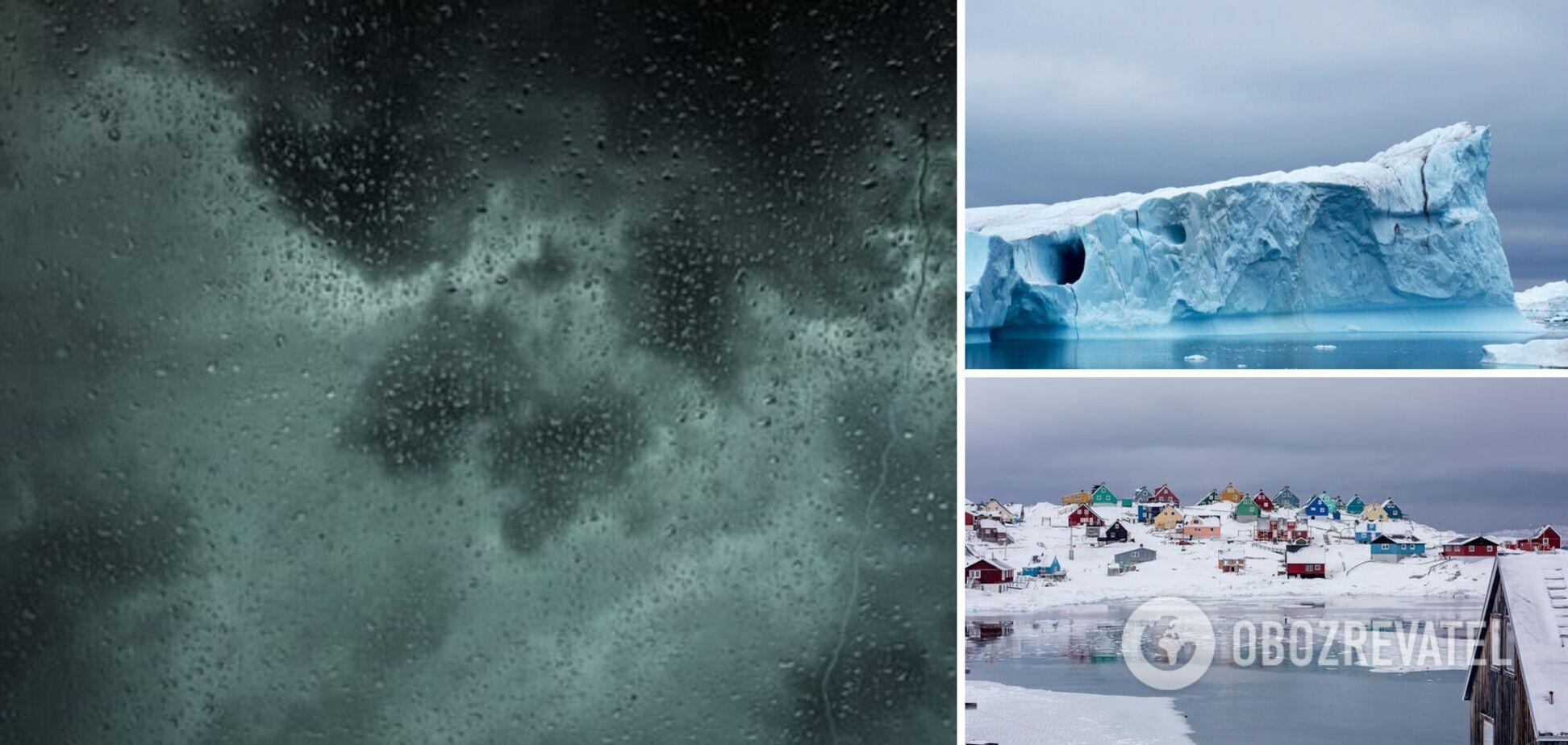 Вчені розповіли про аномальний дощ у Гренландії і заявили про критичні зміни клімату