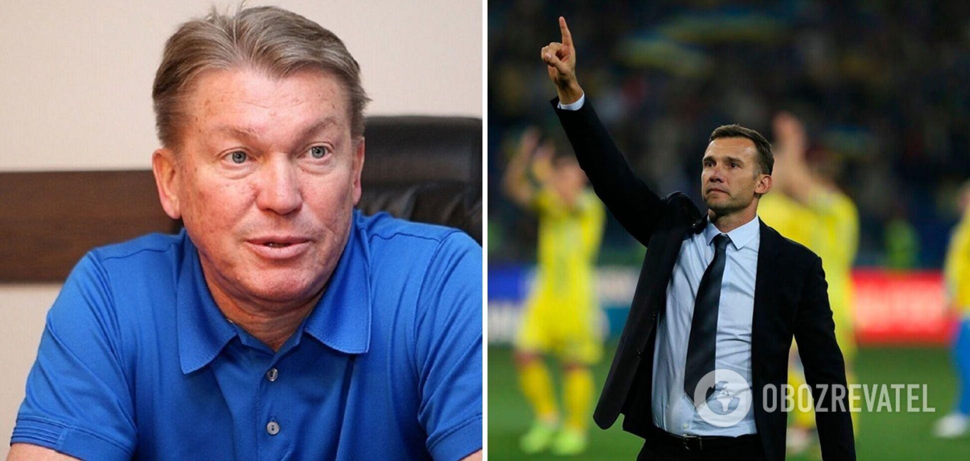 'Оставлять в таком положении...' Блохин упрекнул Шевченко за уход из сборной Украины