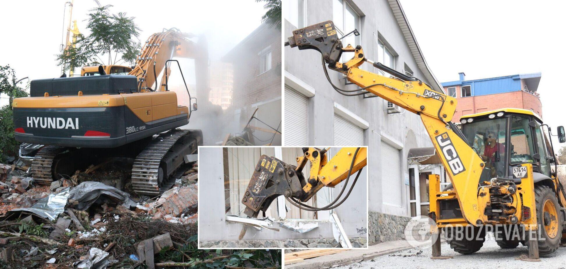 Філатов заявив про початок знесення у Дніпрі незаконно зведених будівель