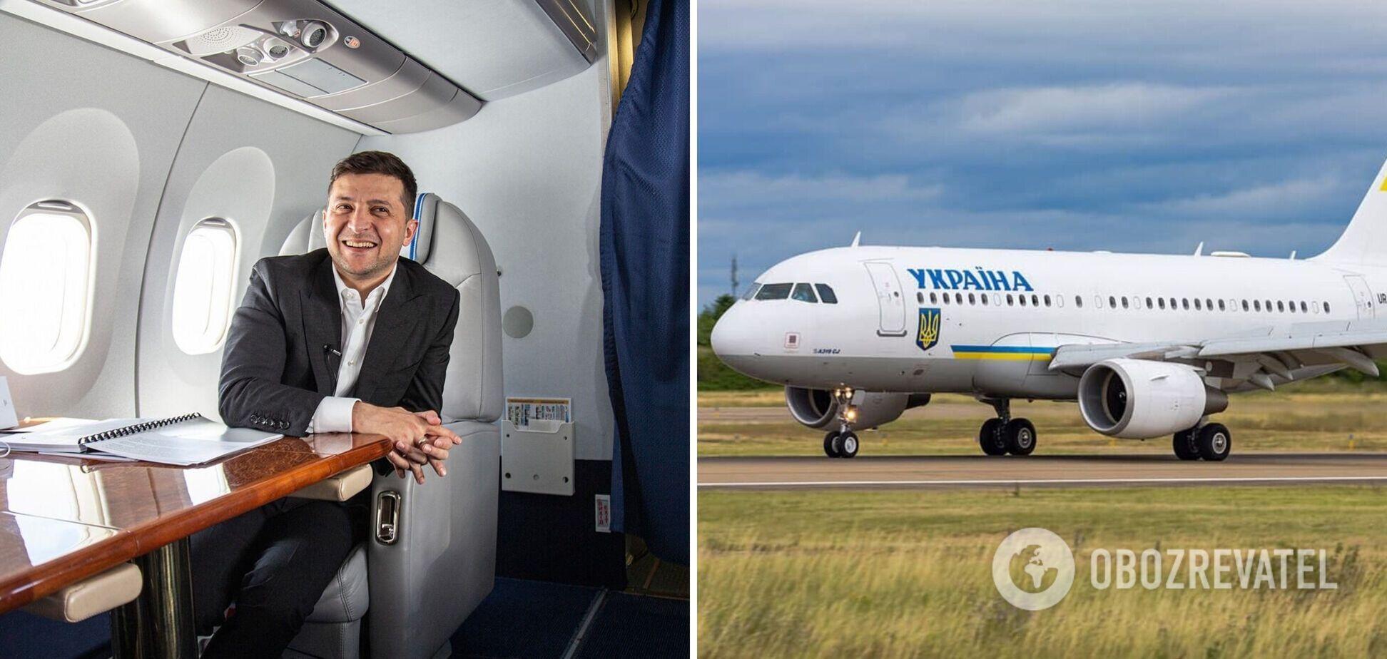 Самолет Владимира Зеленского приземлился в Одессе