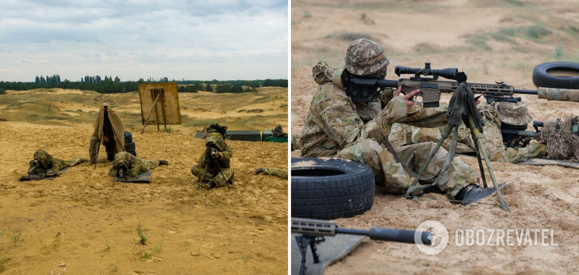 На Херсонщині пройшли тренування снайперів – працювали в парах. Фото та відео