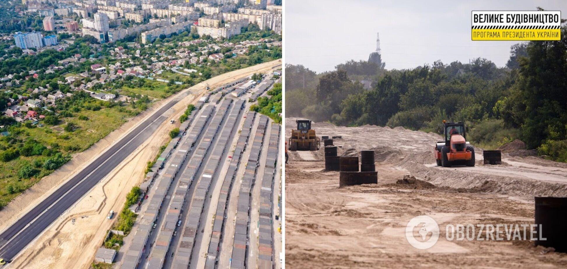 На Дніпропетровщині в межах 'Великого будівництва' Зеленського будують дві нові траси