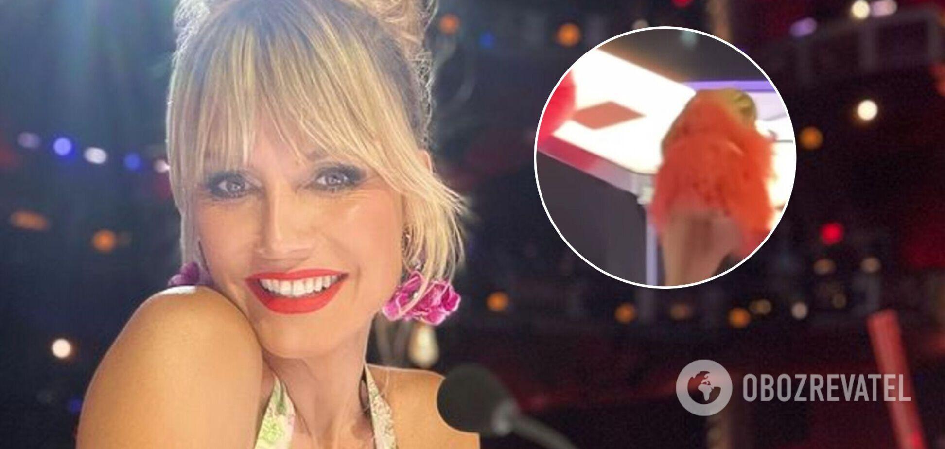 Хайди Клум случайно засветила нижнее белье в прямом эфире. Видео