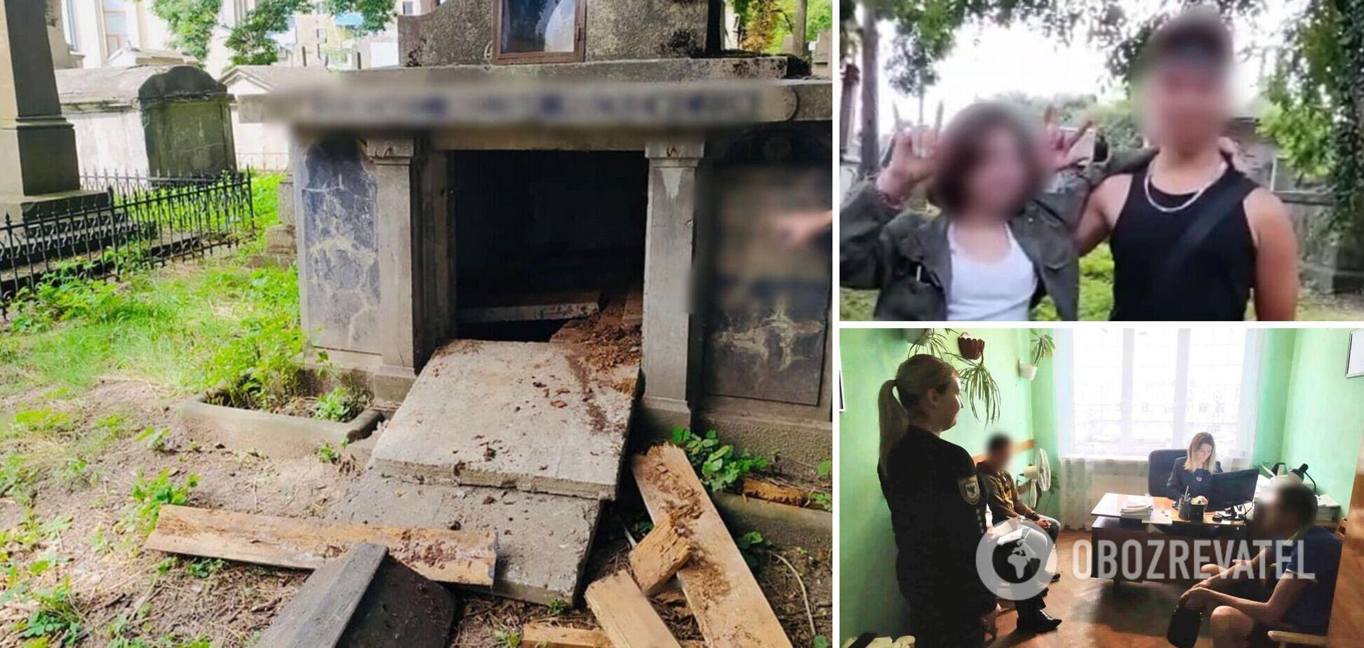 На Прикарпатье несовершеннолетние вандалы разрушили склеп: все снимали на видео