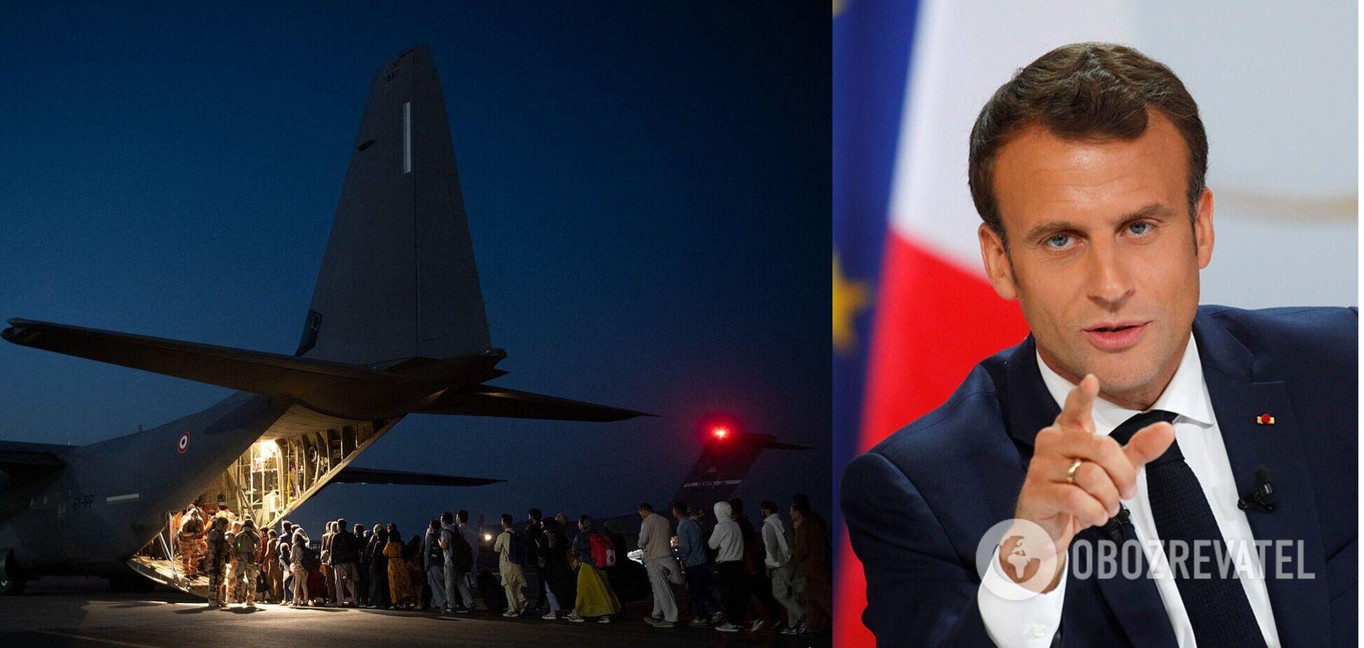 Франція припинила евакуацію з Кабула: Макрон виступив із заявою