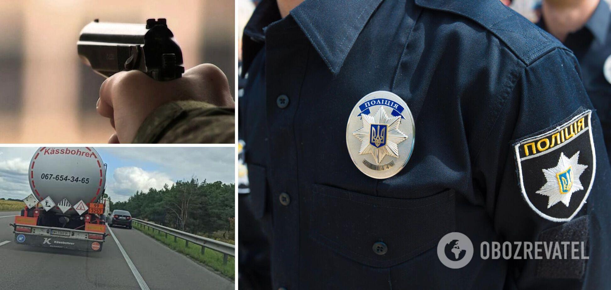 У Києві водій авто відкрив стрілянину, намагаючись об'їхати затор. Фото