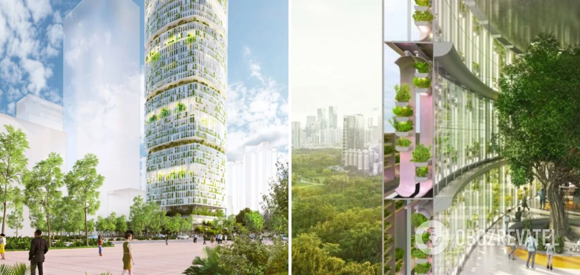 У Китаї зведуть 'зелений' хмарочос, в якому вирощування рослин контролюватиме ШІ