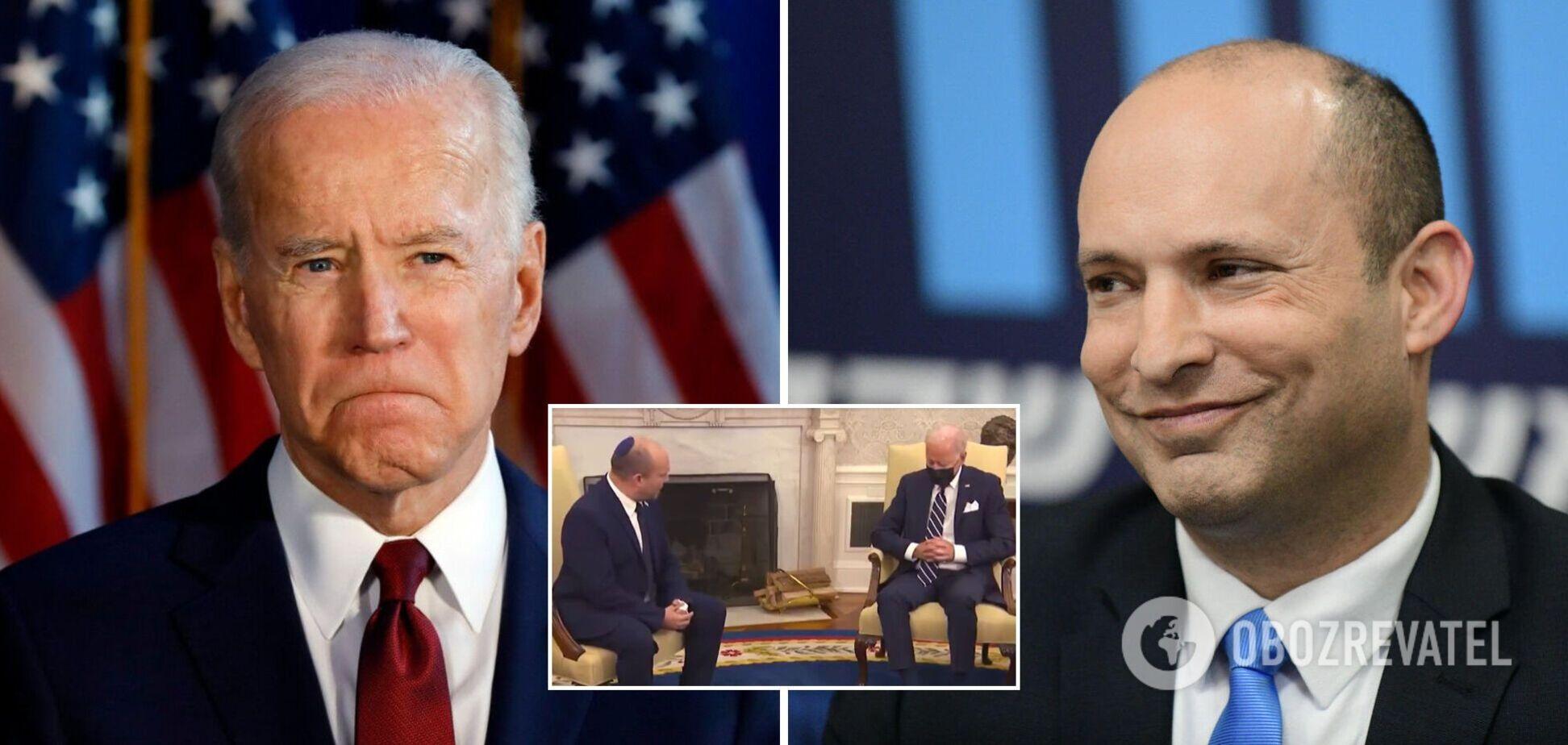 Байден уснул: в сети запустили фейк о встрече президента США с премьером Израиля