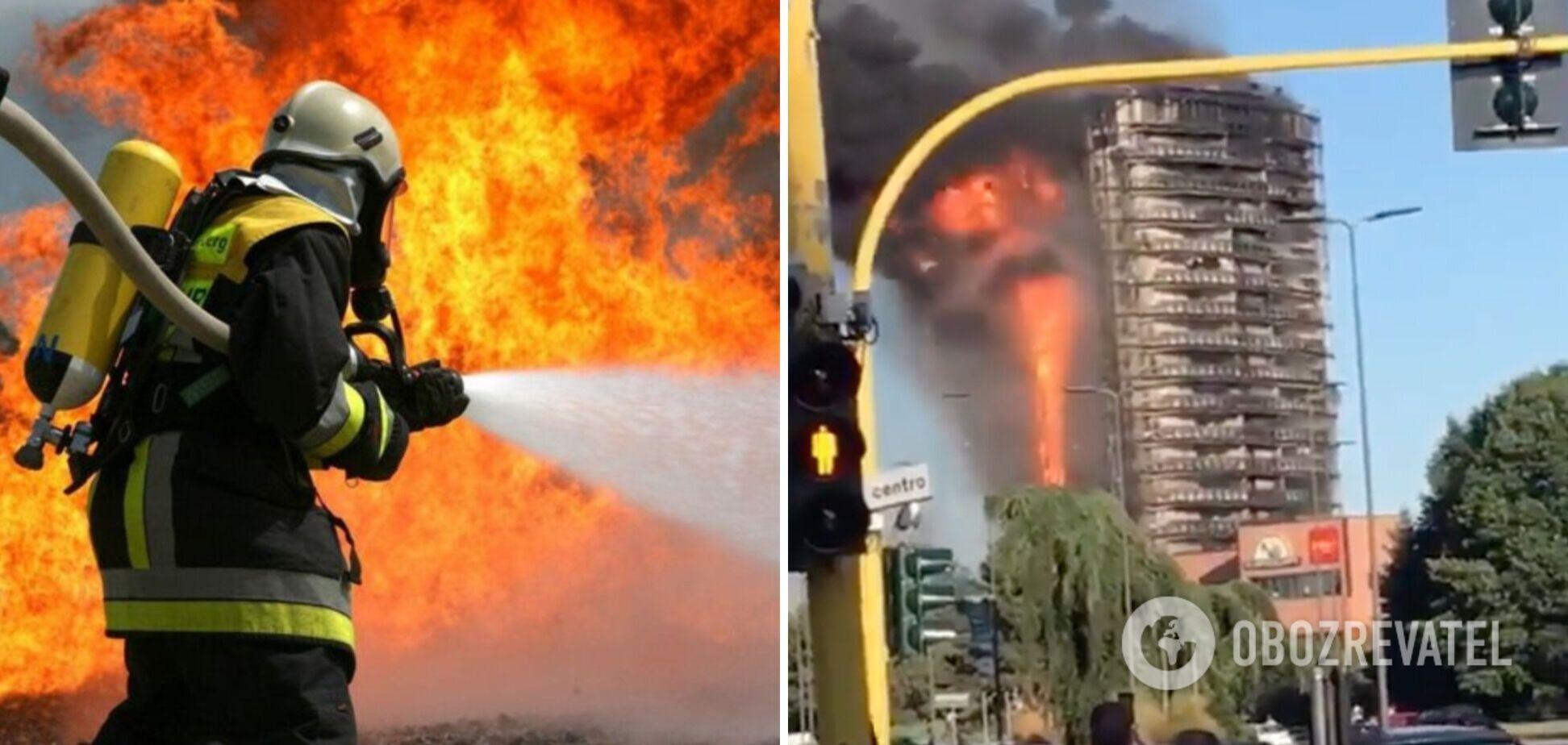 У Мілані спалахнула багатоповерхівка, евакуюють десятки людей