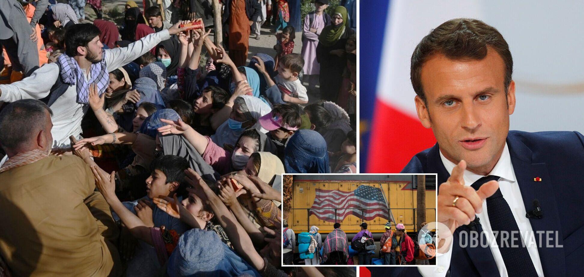 Макрон передрік ЄС нову кризу через афганських мігрантів і покликав США на допомогу