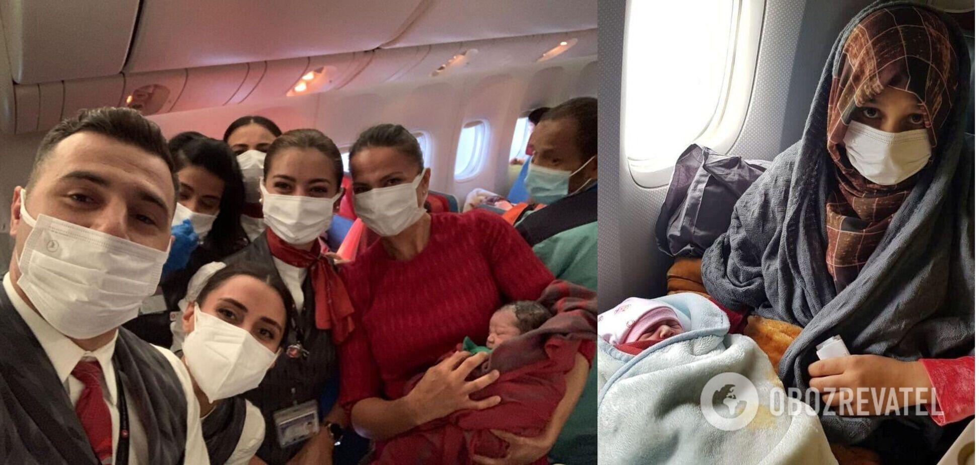 Афганська біженка народила під час евакуаційного рейсу: її маля побачило світ на висоті 9 км. Фото