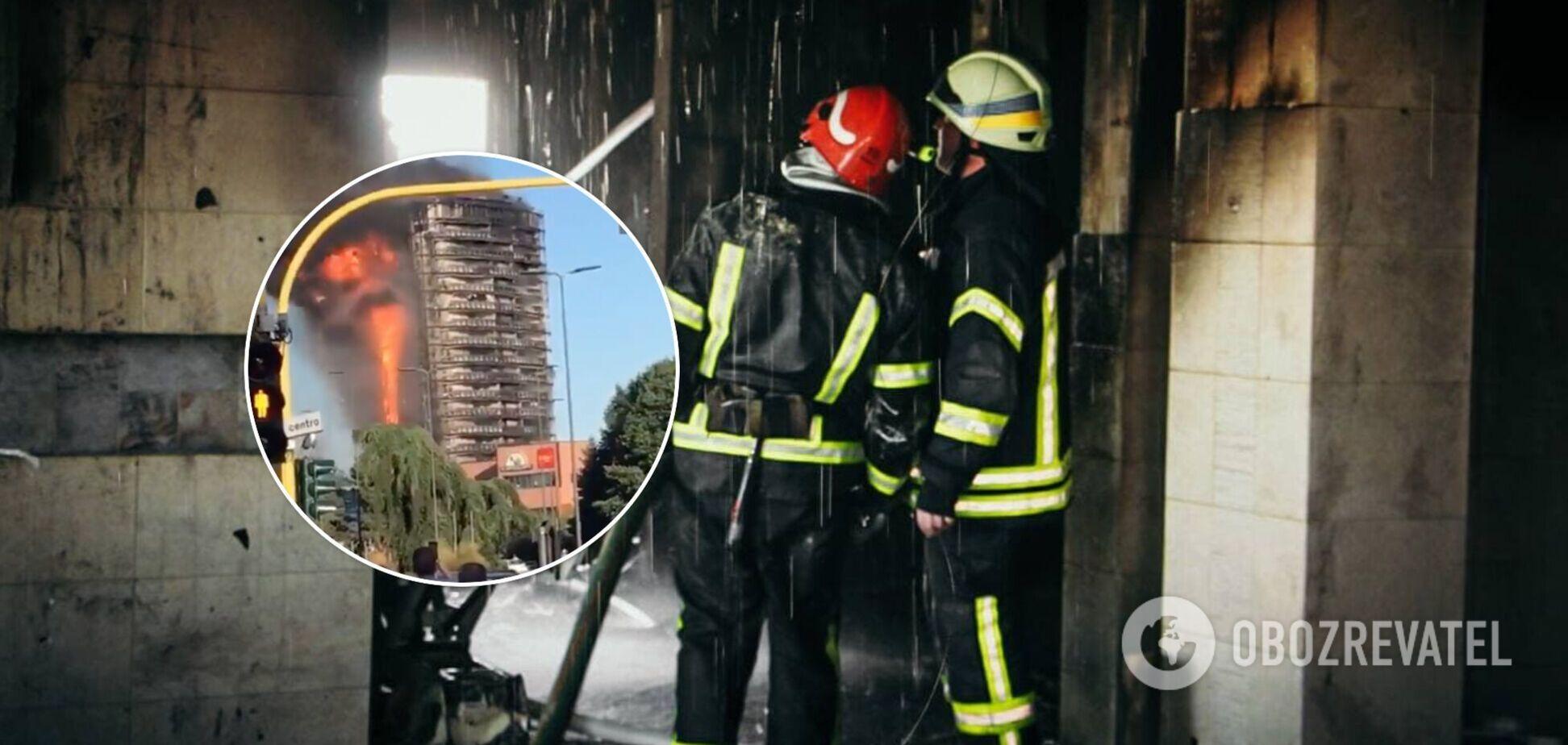 У Мілані горить багатоповерхівка