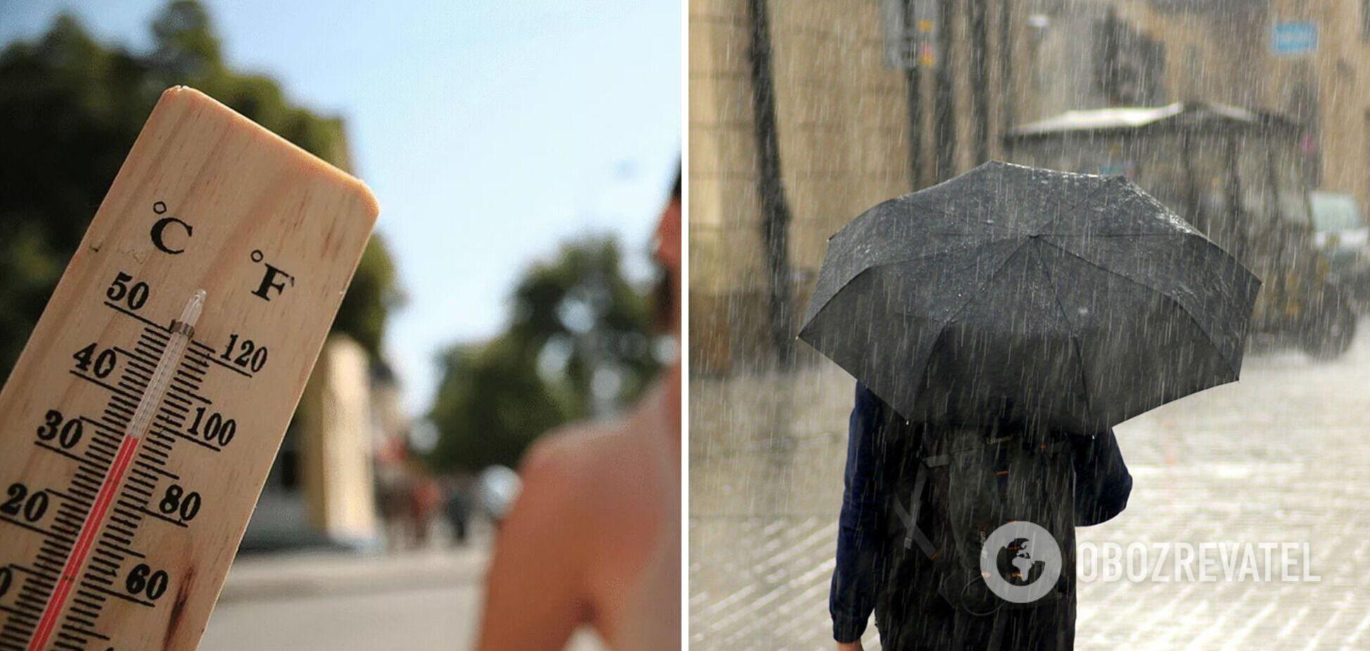 Дожди и жара +35: синоптики уточнили прогноз погоды на начало недели