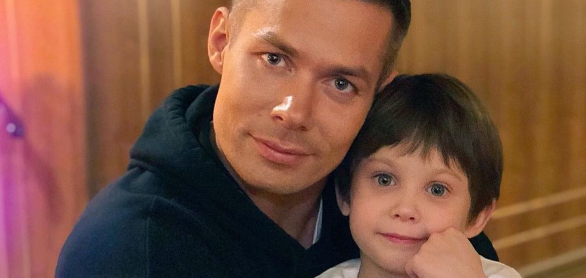 Стас Пьеха и сын Петя.
