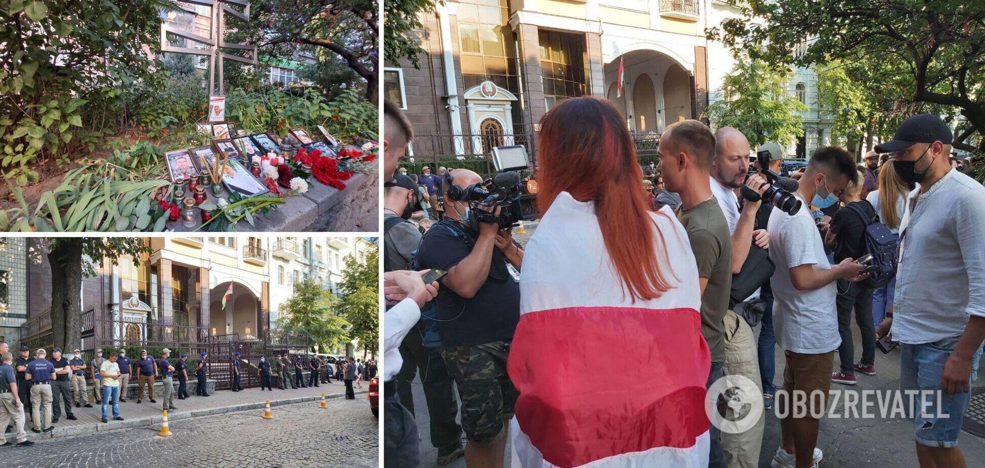 Під посольством Білорусі в Києві провели акцію в пам'ять про загиблого Шишова. Фото і відео