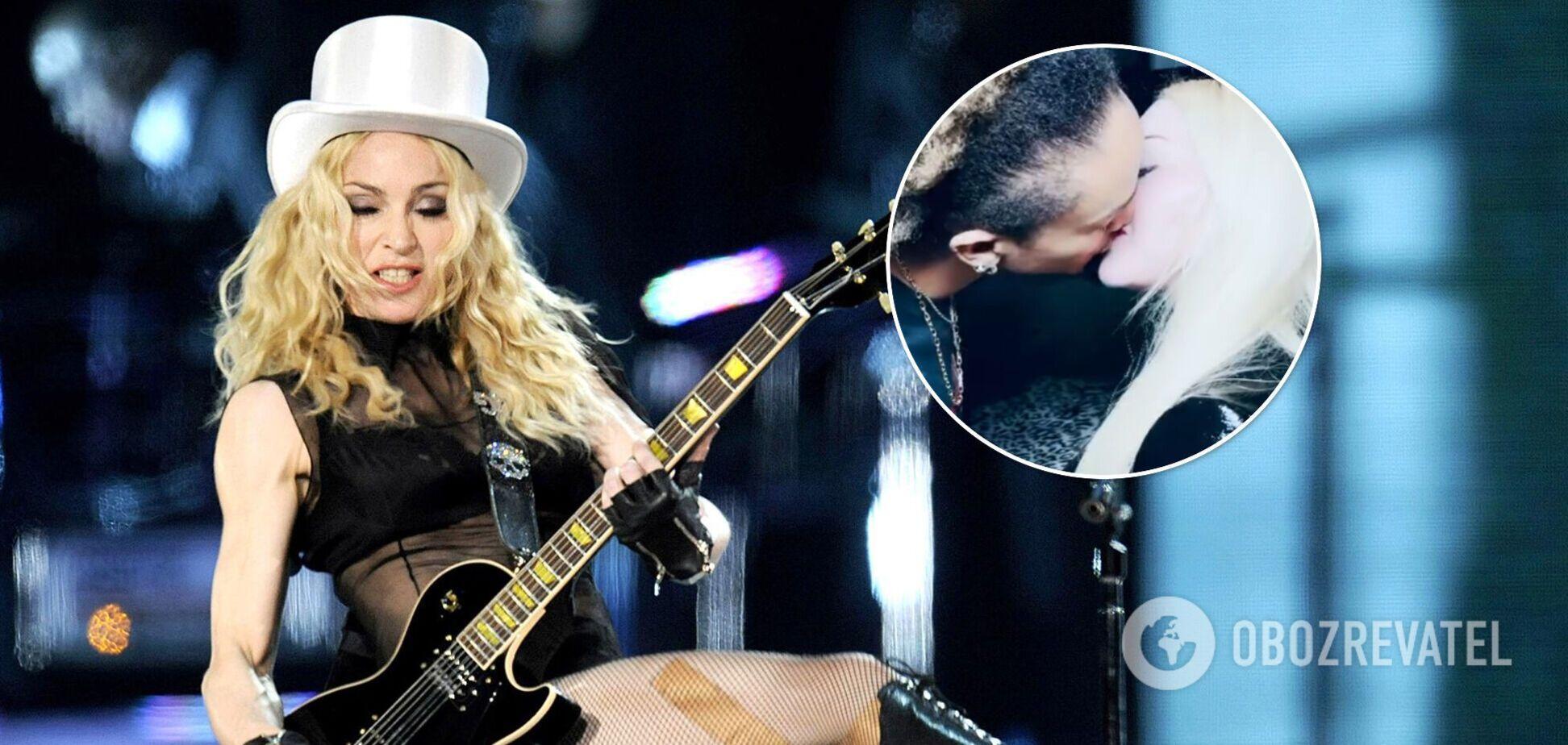 62-річна Мадонна в зухвалому образі поцілувалася з 26-річним бойфрендом. Фото і відео