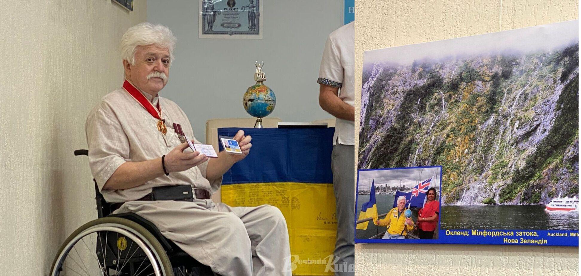 Легендарный киевлянин на инвалидной коляске посетил 70 стран и делает удивительные фото своих путешествий