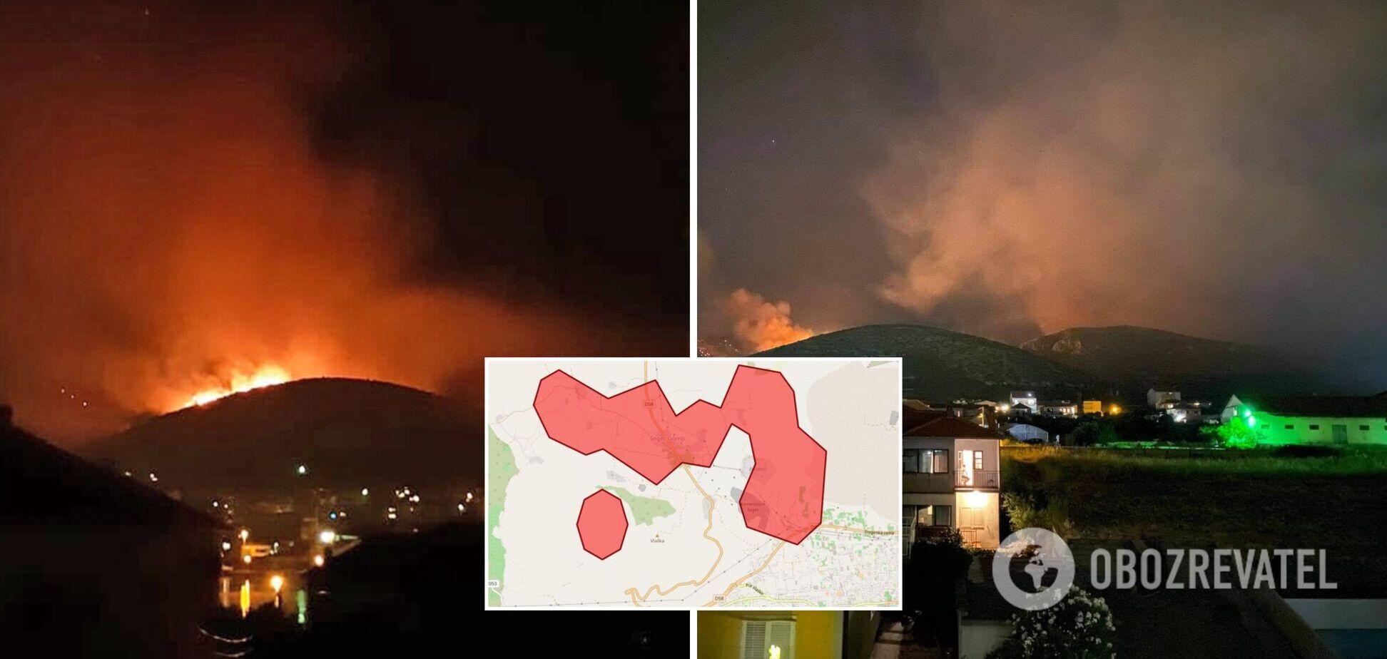 Пожары в Хорватии продолжаются вторые сутки