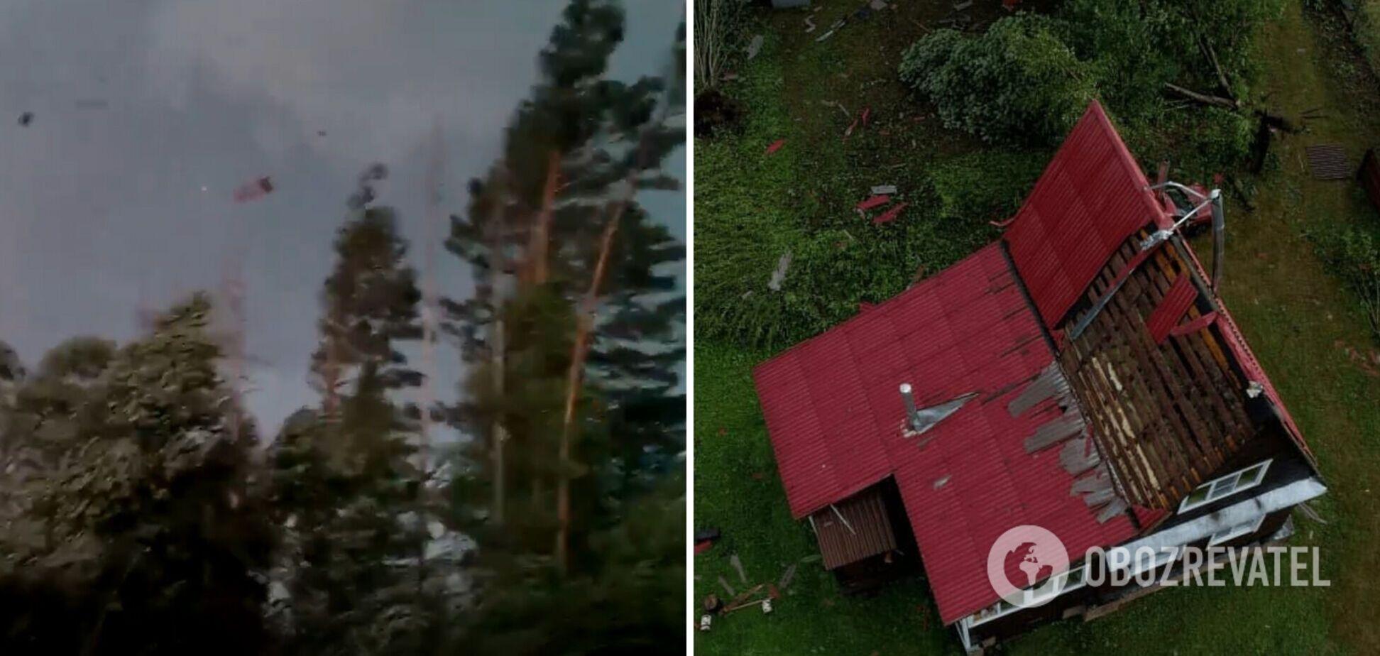 В России пронесся разрушительный ураган