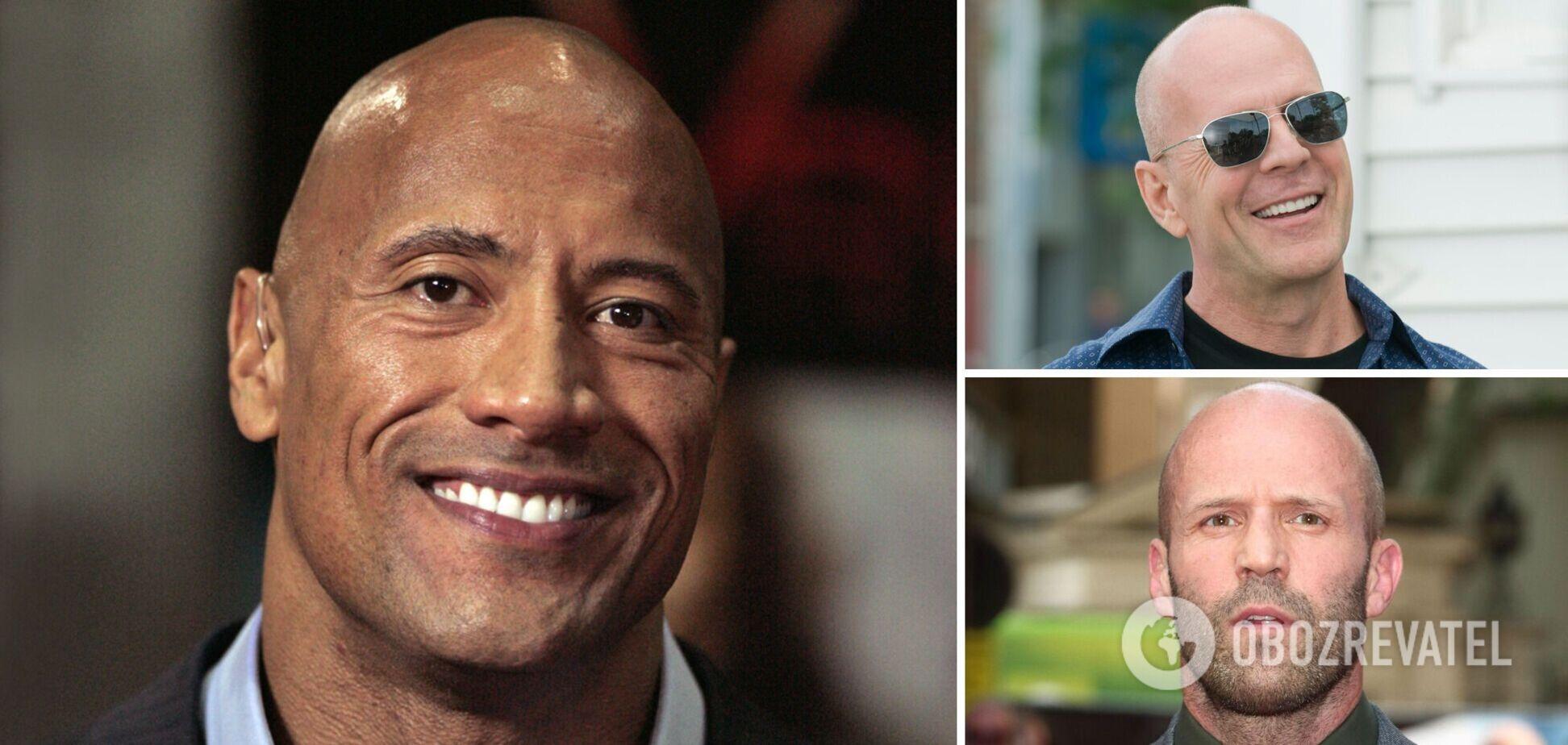 Уиллис, Стэтхэм, Джонсон и другие: как лысые голливудские звезды выглядели до популярности. Фото