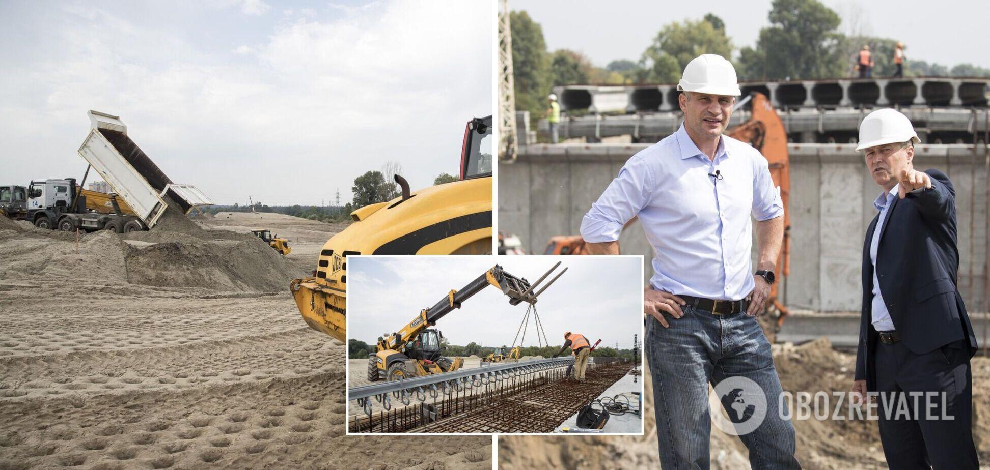 Кличко перевірив роботи з будівництва нового автосполучення