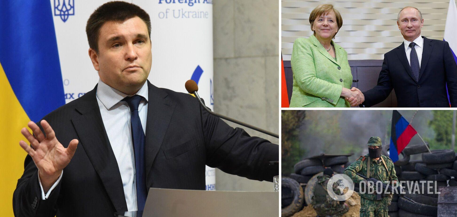Вірила Путіну: Клімкін розповів, як Меркель відмовлялася визнавати агресію Росії