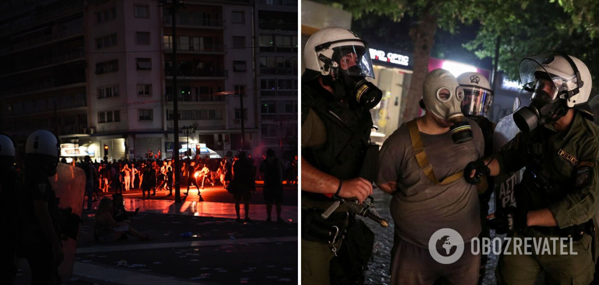 У Греції на мітингу проти обов'язкової вакцинації від COVID-19 відбулися сутички: поліція застосувала водомети