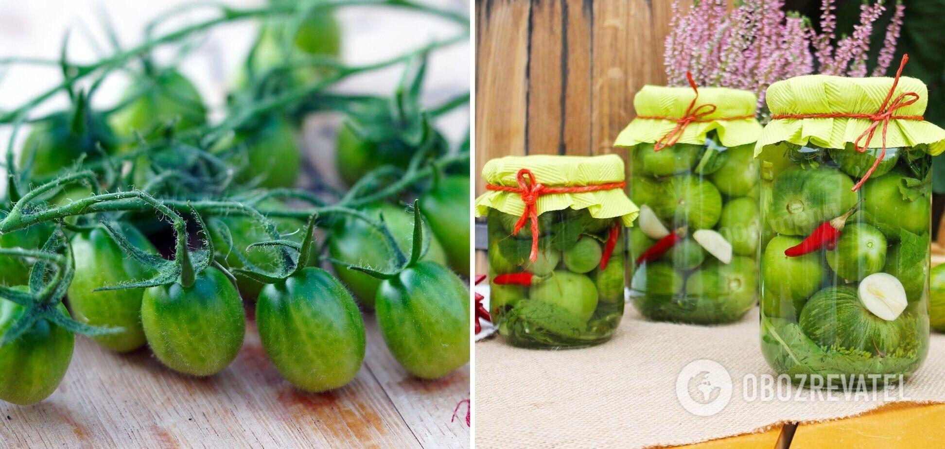 Как правильно законсервировать зеленые помидоры