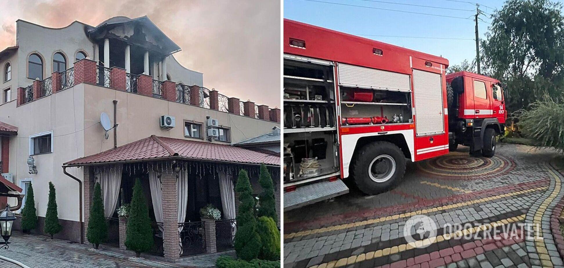 На Закарпатье загорелась гостиница