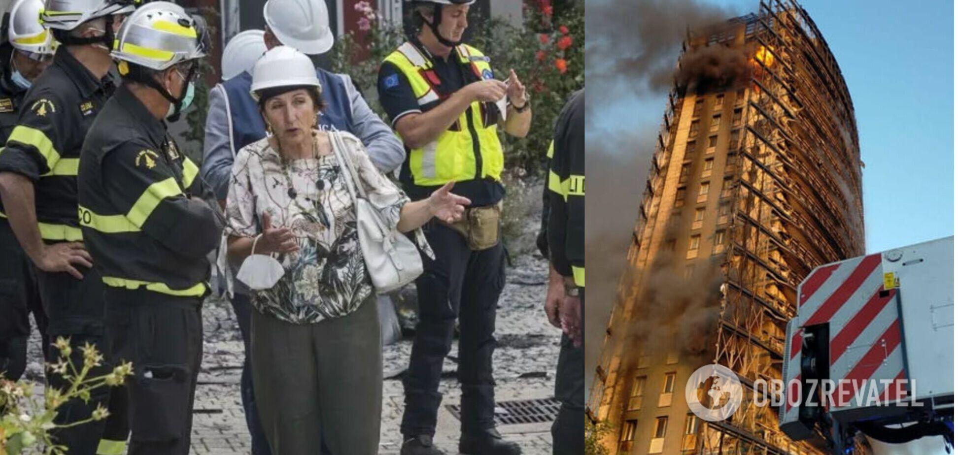 В Италии назвали возможные причины пожара в 15-этажном миланском небоскребе