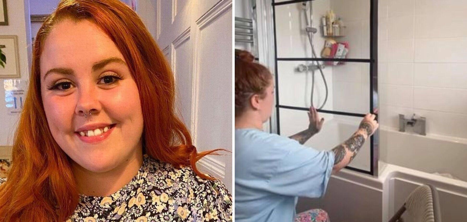 Девушка сделала ремонт в ванной комнате за 330 грн