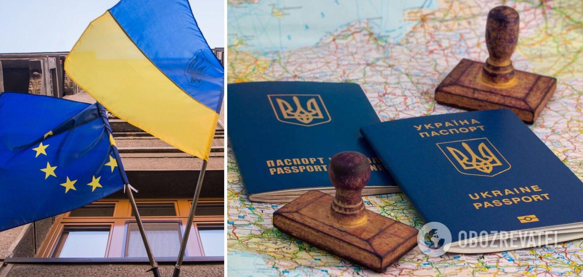 Безвиз Украины и ЕС