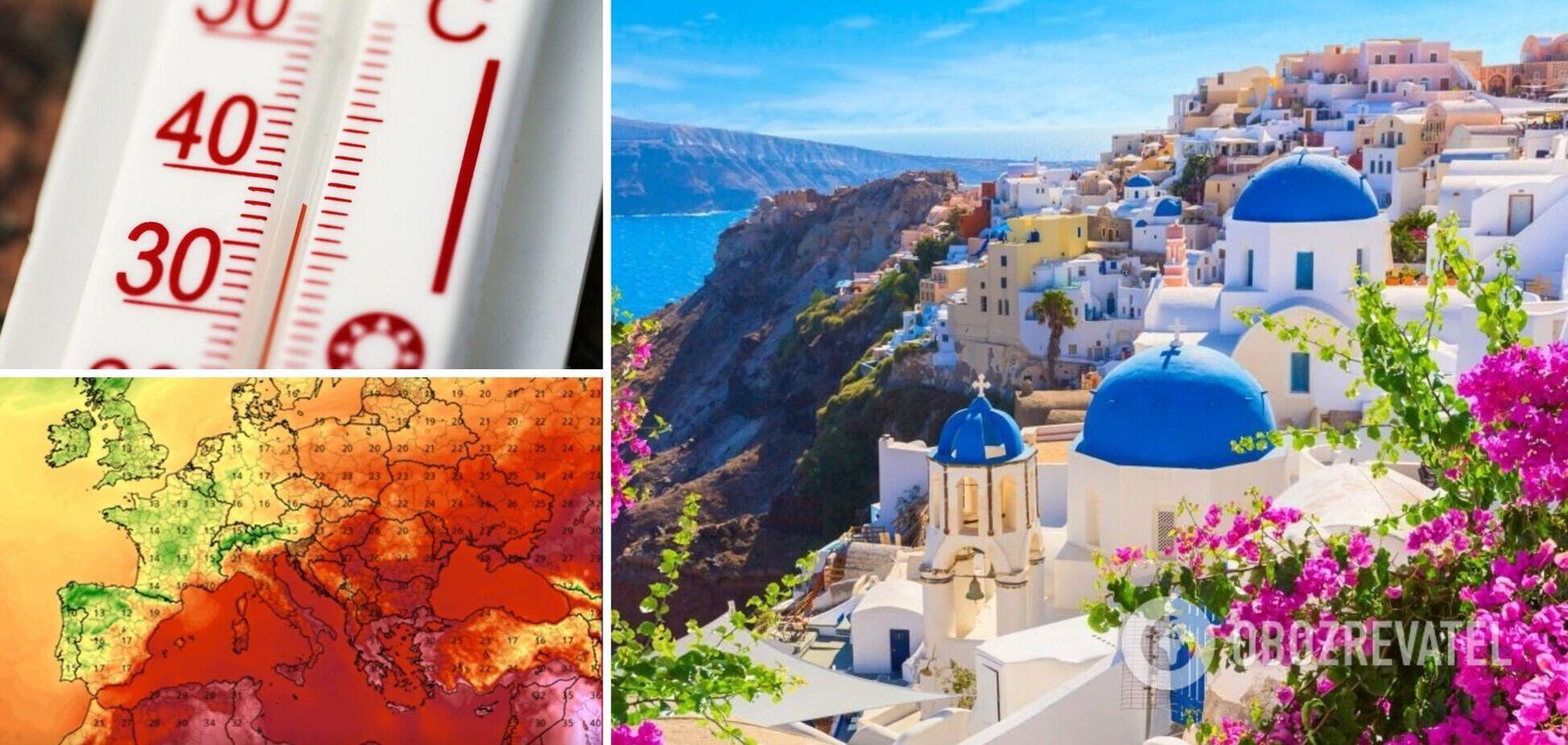 Грецию накрыла рекордная жара, температура воздуха превысила +46